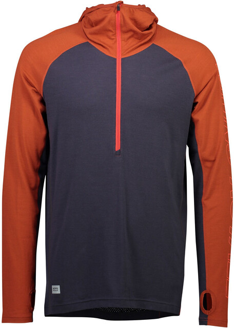 Mons Royale M's Temple Tech LS Hood Clay/9 Iron